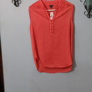 Womens Ann Taylor Red Tank Top Small NWT